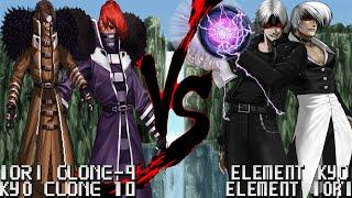 getlinkyoutube.com-[Mugen 1.1 HD] - Iori Clone-9/Kyo Clone-10 vs. Element Kyo/Element Iori