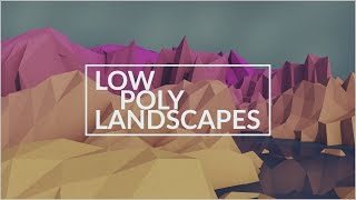 getlinkyoutube.com-How To Create Low Poly Lanscapes | Cinema 4D