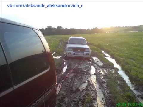 """Митсубиши Паджеро Спорт"" застрял/got stuck ""Mitsubishi Pajero Sport""/31.05.2013 г."