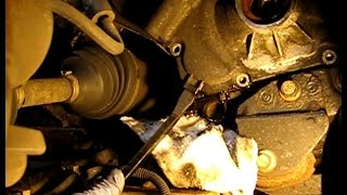 getlinkyoutube.com-GM 2.2L Ecotec timing chain replacement '03 Cavalier part 2: Removing crank bolt and timing cover