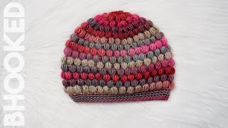getlinkyoutube.com-How to Crochet a Puff Stitch Hat