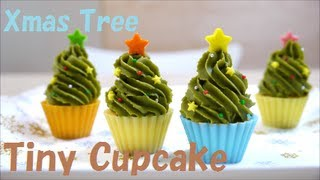 getlinkyoutube.com-Tiny Christmas Tree Cupcake 【HD】 クリスマスツリー タイニー カップケーキ