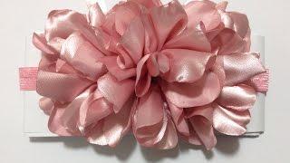 getlinkyoutube.com-Tiara con flor vaporosa de tela VIDEO No. 330