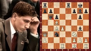 "getlinkyoutube.com-Bobby Fischer's most outrageous chess game! - The ""Game of the Century""!"