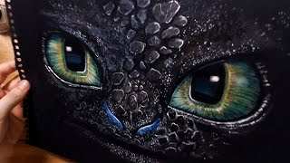 getlinkyoutube.com-Speed Drawing: Toothless - How To Train Your Dragon (HTTYD)