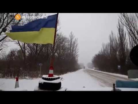 First Snow on the Front Line. Ukraine.
