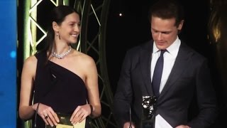 getlinkyoutube.com-Caitriona Balfe & Sam Heughan @ BAFTA Scotland Awards Ceremony