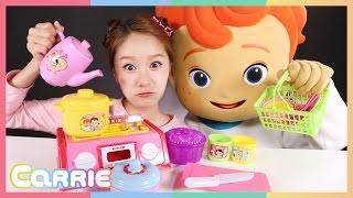 getlinkyoutube.com-캐리와 꼬마캐빈의 캐리 바구니 소꿉놀이 장난감 놀이 CarrieAndToys