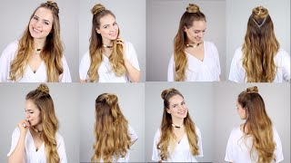 getlinkyoutube.com-5 Ways to rock the Half Top Knot - Super easy and fast!