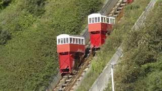 getlinkyoutube.com-Leas Lift, a water and gravity powered funicular railway in Folkestone
