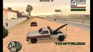 GTA (Grand Theft Auto) San Andreas:Tow Truck Controls