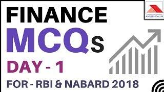 Finance MCQs For RBI Grade B 2018 Day 1 By Anuj Jindal