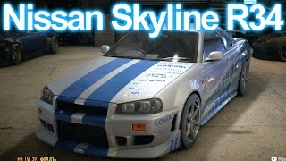 getlinkyoutube.com-Need for Speed 2016 - 2 Fast 2 Furious Skyline GT-R R34 Build HD