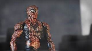 getlinkyoutube.com-Stop Motion: Spiderman versus Black Spiderman