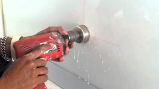 getlinkyoutube.com-Cara Melubangi Kaca dengan BOR. punching holes in the glass