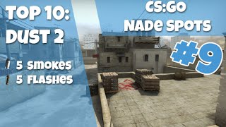 getlinkyoutube.com-CS:GO Nade Spots Ep #9 - Dust2 Top 10 Nade Spots - Detailed Version