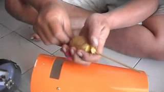 getlinkyoutube.com-cara membuat KENTANG SPIRAL menggunakan pisau ulir tabung