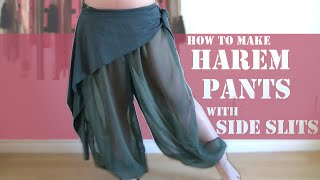 getlinkyoutube.com-DIY Harem Pants with Slits on Side