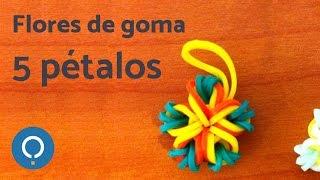 getlinkyoutube.com-Flores de gomitas 5 pétalos