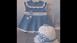 getlinkyoutube.com-Crochet Patterns  for free  crochet baby dress  1520