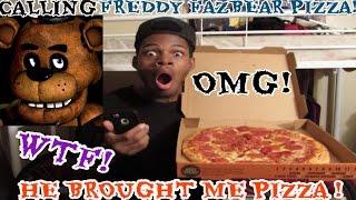 getlinkyoutube.com-CALLING FREDDY FAZBEAR PIZZA THEY GOT ME PIZZA!