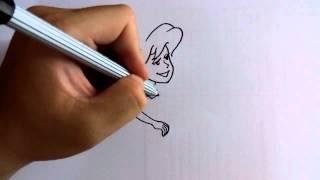 getlinkyoutube.com-วาดการ์ตูนกันเถอะ สอนวาดการ์ตูน เจ้าหญิงเงือก ลิตเติ้ล เมอร์เมด ง่ายๆ หัดวาดตามได้