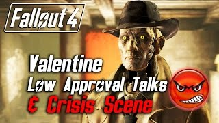 getlinkyoutube.com-Fallout 4 - Nick Valentine - All Low Approval Talks & Crisis Scene (Nick Leaves Forever)