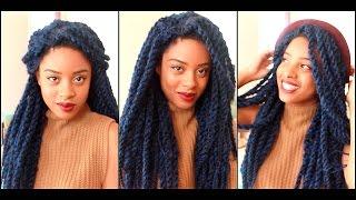 getlinkyoutube.com-Marley Twist in Under 10 Minutes! (Lace Wig) |ElevateStyle