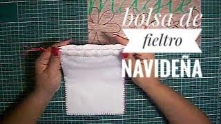 getlinkyoutube.com-Bolsa de Fieltro Navideña - Manualidades Navidad