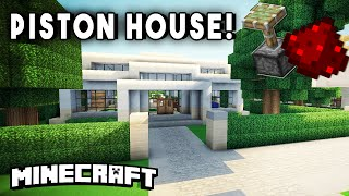 getlinkyoutube.com-COMPACT REDSTONE PISTON HOUSE (w/ Automated Farms, Secret Rooms, & More!)