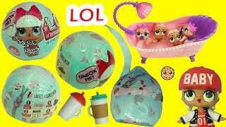 LOL Surprise Baby Dolls In Blind Bag Ball - Do They Pee, Cry, Spit or Color Change in Bath Water ?