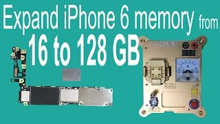 getlinkyoutube.com-Expand iPhone 6 Memory from 16GB to 128GB by Changing NAND Flash HDD