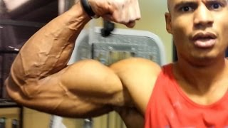 getlinkyoutube.com-Secret To Building Bigger Arms FAST! (Super-Drop Sets for Biceps and Triceps) Big Brandon Carter