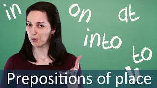 Prepositions in Place Expressions - English Grammar & Speaking Lesson