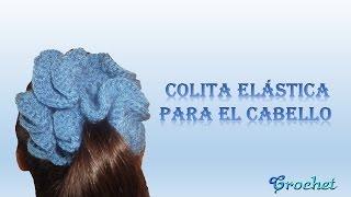 getlinkyoutube.com-Colita - dona elástica crochet (ganchillo) para el cabello