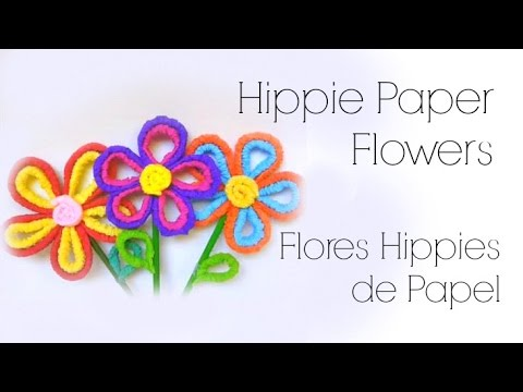 DIY // Easy Easter Flowers ♥ Manualidades // Flores de crepe