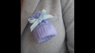 getlinkyoutube.com-Gorrito para recuerdo de baby shower o para bautizo