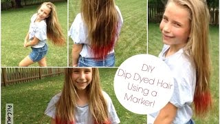 getlinkyoutube.com-DIY: Dip Dyed Hair Using a Marker! | SS