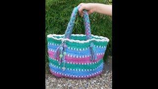getlinkyoutube.com-CROCHET  How to  #Crochet Summer Beach Bag #TUTORIAL #87