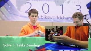 getlinkyoutube.com-Mats Valk and Feliks Zemdegs: Top 2 Seeds, 3x3 Final Round, Rubik's Cube World Championship 2013