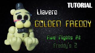 getlinkyoutube.com-Tutorial Llavero Golden Freddy en Porcelana Fria   FNaF   Golden Freddy Charm Polymer Clay Tutorial