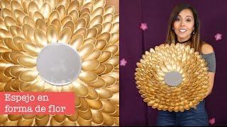 getlinkyoutube.com-Hazlo Tu Mismo: Espejo con cucharas de plástico - Princesas Del Rey Canal