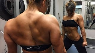 getlinkyoutube.com-Sophie Arvebrink:: Female Fitness Gym Workout Routine for Muscle Building