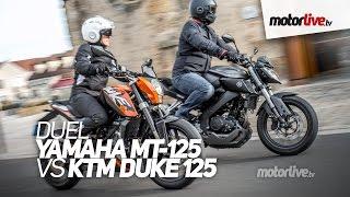 getlinkyoutube.com-DUEL | YAMAHA MT-125 vs KTM Duke 125 ABS - Passionnantes !
