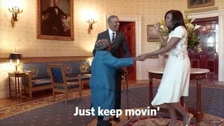 106-Year-Old Dances With The Obamas At The White House - Newsy