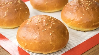 getlinkyoutube.com-Burger Buns Recipe   Best Eggless Hamburger Buns   Super Soft Bakery Style Breads