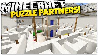 getlinkyoutube.com-Minecraft | PUZZLE PARTNERS! | REDSTONE GENIUSES (Minecraft Custom Map)