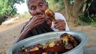 getlinkyoutube.com-My Grandma's 105 years Yummy Chicken Drumstick Recipe || Tasty Chicken Drumsticks||Country Foods