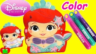 getlinkyoutube.com-Disney Princess Ariel Little Mermaid Color and Create with Surprises