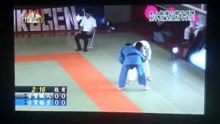 getlinkyoutube.com-JUDO Legend Toshihiko Koga 古賀 稔彦 (45) vs his son Hayato Koga (15)